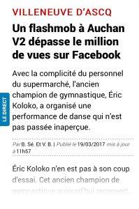 La Voix du Nord Flashmob V2 Eric Koloko